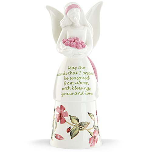 Lenox Butterfly Meadow Bless My Meals Kitchen Angel Bell-pink