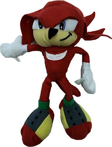 Amazon Com Sonic The Hedgehog Knuckles 7 Plush Stuffed Toy Toys Games