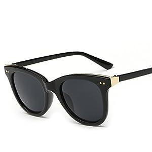 Sunglasses Women Lens Oval Frame sunglasses,C13 bean curd/double tea