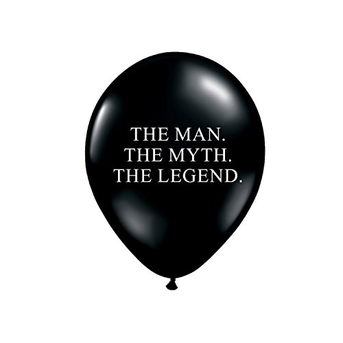 The Man The Myth The Legend Balloons in Black and White, Birthday Party Decorations for Him, Funny Birthday Decor for Him, Set of 3, Guy Birthday Party Balloons Decorations