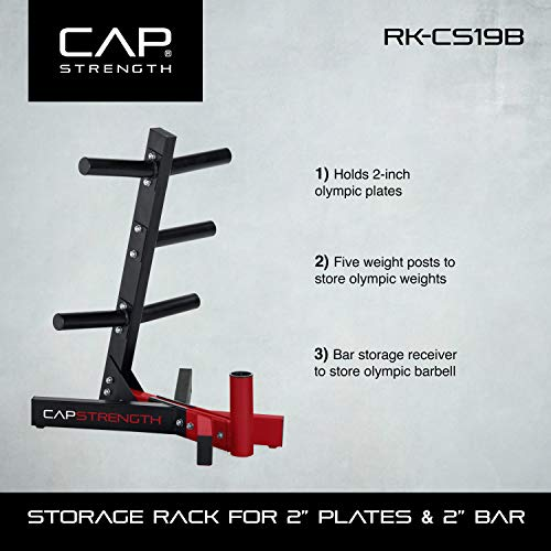 Buy cap barbell 2-inch plate and bar storage rack