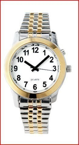 Ladies Deluxe Talking Wrist Watch Two Tone by Active Products Plus (Image #1)