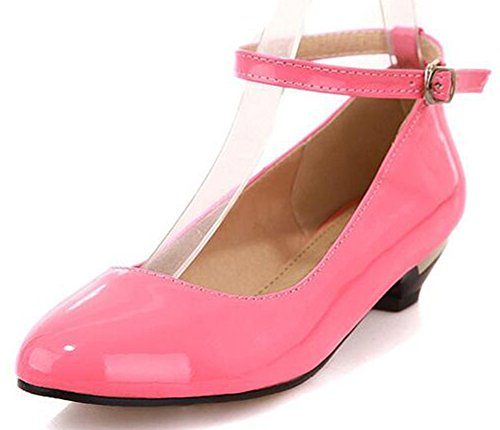 Easemax Women's Sweet Low Chunky Heels Round Toe Pumps With Ankle Strap 41BXBhuz9AL home Home 41BXBhuz9AL