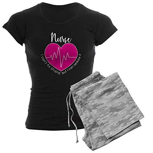 CafePress Nurse I Can't Fix Stupid Womens Novelty Cotton Pajama Set, Comfortable PJ Sleepwear But I Vintage Nightgown