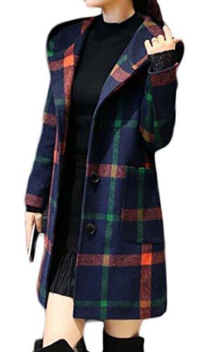 Plaid Belted Coat - 6