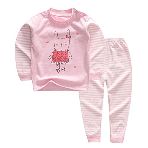 100% Organic Cotton Baby Boys Girls Pajamas Set Long Sleeve Sleepwear(3M-5T) (Tag70/4-5T, Pattern 3)