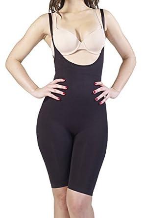 704f6345ede45 Swee Velvet - Women s Shapewear - Full Body Shaper Black  Amazon.in ...