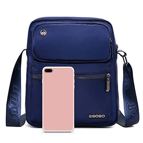 Color Sac Multi color Nylon Bandoulière Jiedoasi Grande À Blue Imperméable Hommes poches Black Capacité Pour En pWaWBqnw
