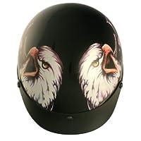 VCAN V531 Cruiser Patriotic Eagle Graphics Half Helmet (Gloss Black, X-Large) by VCAN