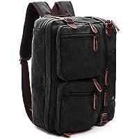Sambox Convertible Laptop Unisex Travel Duffle Bag - Black