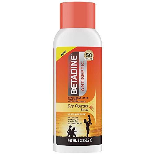 Betadine Antiseptic Dry Powder Spray, No Mess, No Drip, No Sting Promise, 5% Povidone-Iodine for Minor Cuts, Scrapes and…