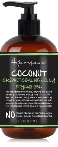 Renpure Coconut Creme Curling Jelly Styling Gel, 16 Ounce