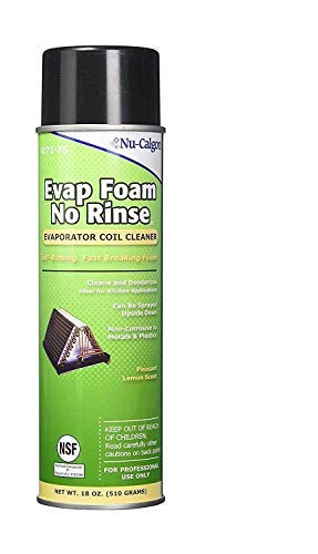 Nu-Calgon 4171-75 Evap Foam No Rinse Evaporator Coil Cleaner, 18 oz. - Pack of 6