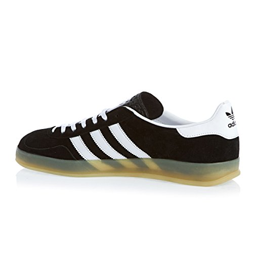 Adidas Originals Gazelle Playeras Interiores - Negro 1 / Blanco / Goma 1 - Negro, Ante, 45 Negro