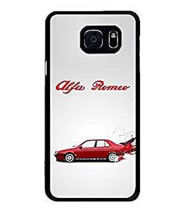 Samsung Galaxy S6 Edge Plus Funda Carcasa Case Alfa Romeo Logo Protective Snap-on Hard Funda Carcasa Case Cover