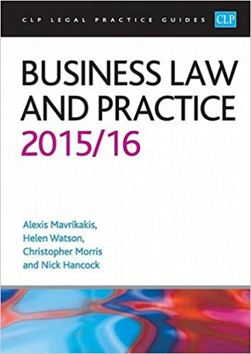 Business Law and Practice 2015/2016 (CLP Legal Practice