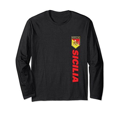Unisex Sicilian Pride - Sicilian Racing Jersey Style T-Shirts Medium Black (Sicilian Unisex T-shirt)