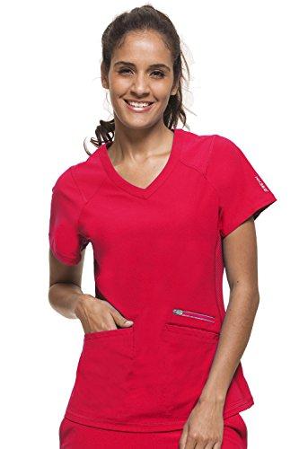 healing hands HH360 Women's Serena 2284 Zip Neck Scrub Top- Rose Blush- Medium