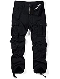 Men's Causal Slim Fit Cargo Pants With Multi-Purpose Pocket Military Style Work Pants