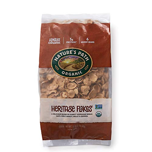 Nature's Path Heritage Flakes Cereal, Healthy, Organic & Full of Protein and Fiber, 32 Ounce Bag (Pack of 6) (Wheat No Flour)