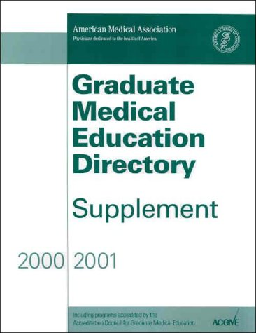 Graduate Medical Education Directory, Supplement 2000-2001