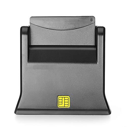 Pcsc Smart Card - USB Smart Card Reader | Plug & Play | Power/Status LED | USB Bus-Powered | HBCI Capable | Windows 8/7/XP/2000-compatible | Black(Black)