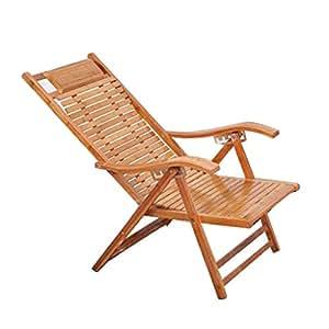 L-SYJH Tumbonas, sillas de bambú, almuerzos Plegables ...
