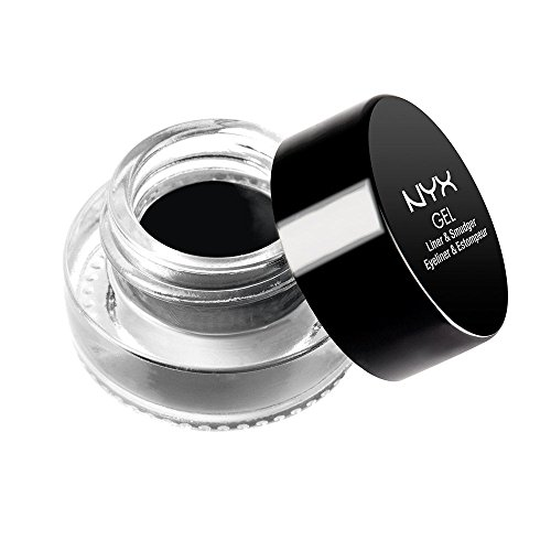NYX Professional Makeup Gel Eyeliner and Smudger, Betty, Jet Black, 0.11 Ounce