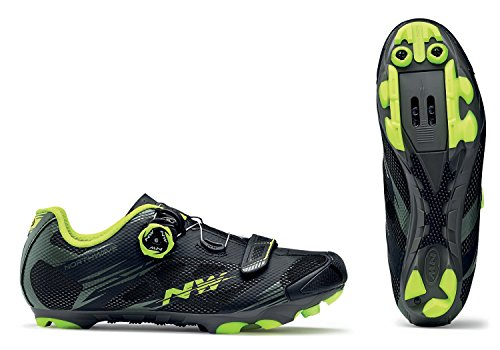 Northwave, Scorpius 2 Plus, MTB Shoes, Black Military/Yell.Fluo, (Plus Mtb Shoe)