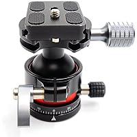 koolehaoda E2 mini Tripod Head Ballhead with Quick Release Plate. Net weight only 240G,Maximum load: 12KG.(E2 ballhead)