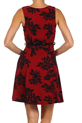 2LUV Women's Trendy Fit & Flare Printed Cocktail Dress