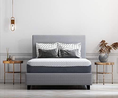 Ashley Furniture Signature Design – 12 Inch Chime Elite Mattress – Queen Size – White Blue