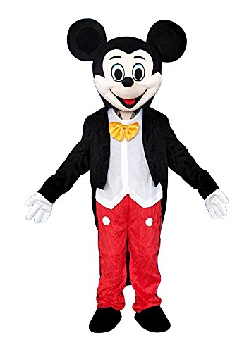 Costume Mascot Adult Mouse (Mickey Mouse Adult Mascot Costume Fancy Dress Cosplay Outfit)