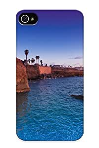 Ef7a2a02297 Cliff Sunset Ocean Palm House Sky Awesome High Quality Iphone 4/4s Case Skin/perfect Gift For Christmas Day