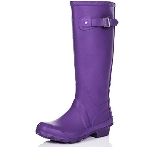 SPYLOVEBUY ARCTIC Botas de Agua Goma Plano Púrpura Matt