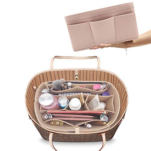 Felt Handbag Organizer,Insert purse organizer Structure Shaper 8001 Beige L