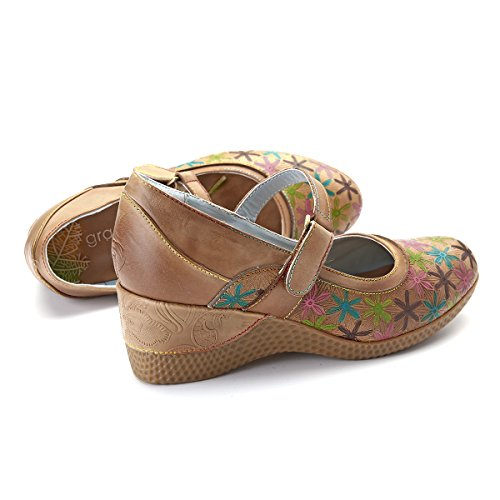 Piatte Pelle Donna Delle on Jane Con Loafers Donne Scarpe Piattaforma Gracosy Vintage Comodo Zeppa Mocassini Guida Da Mary Pompe Basse Estate Casual Slip In zd7wFqx1