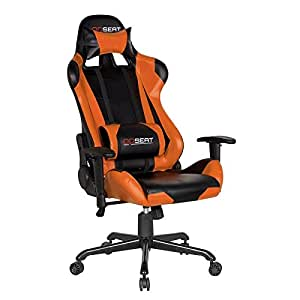 OPSEAT Master Series PC Gaming Chair Racing Seat Computer Gaming Desk Chair (Orange)