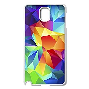 Unique Custom Case for Samsung Galaxy Note 3 N9000,Abstract Square Design Slim Fit Case For Samsung Galaxy Note 3 N9000(White 102112)