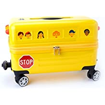 Travel Buddies Ride-On School Bus, Yellow