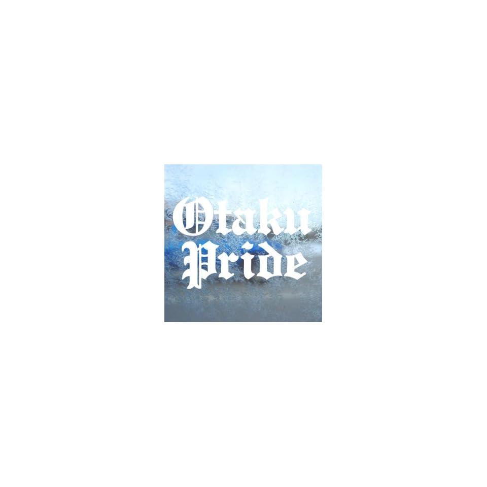 Otaku Pride White Decal Car Laptop Window Vinyl White