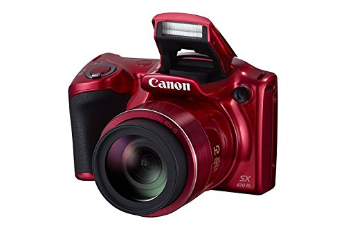 Canon PowerShot SX410 IS 20.0 MP Digital Camera with 40x Optical Zoom (24?960mm) and 24mm Wide-Angle lens, 3.0 Inch LCD and 720P HD Video - Red (Certified Refurbished)