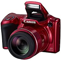 Canon PowerShot SX410 IS 20.0 MP Digital Camera with 40x Optical Zoom (24–960mm) and 24mm Wide-Angle lens, 3.0 Inch LCD and 720P HD Video - Red (Certified Refurbished)