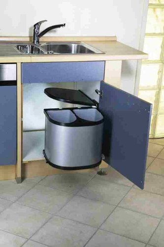 Leifheit Einbauabfallsammler Hausrein INSIDE - 2 x 12 Liter Plus ...