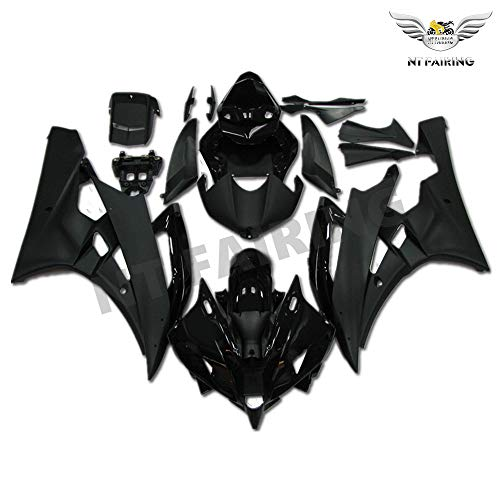 (NT FAIRING Glossy Matte Black Injection Mold Fairing Fit for Yamaha 2006 2007 YZF R6 New Painted Kit ABS Plastic Motorcycle Bodywork Aftermarket)
