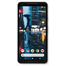 "Pixel 2 XL Phone (2017) by Google, G011C 128GB 6.0"" inch Factory Unlocked Android 4G/LTE Smartphone (Just Black) - International Version"