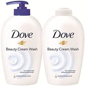 Dove Jabón en Crema 250 ml + Recambio 250 ml - 1 Pack: Amazon.es ...