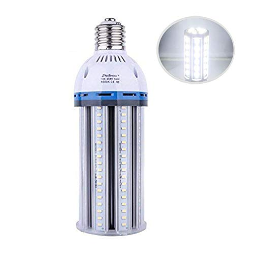 54W LED Corn Light Bulb (E39 Large Mogul Base) 5500Lm 5000K Daylight, for Metal Halide HID HPS Replacement Garage Parking Lot High Bay Warehouse Street Lamp Lighting