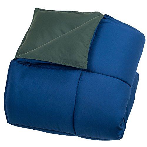 Lavish Home Reversible Down Alternative Comforter, Twin, Dark Green/Dark Blue supplier