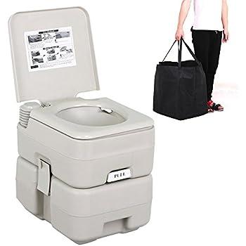 Amazon.com: Yaheetech 5 Gallon 20 L Portable Toilet Flush Caravan ...